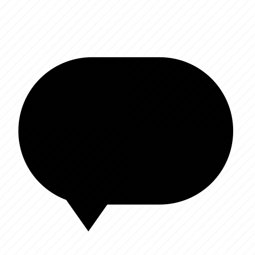 blank, chat, cloud, dialogue, left, round icon