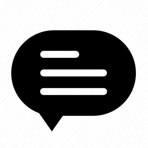 chat, cloud, dialogue, left, round, text icon
