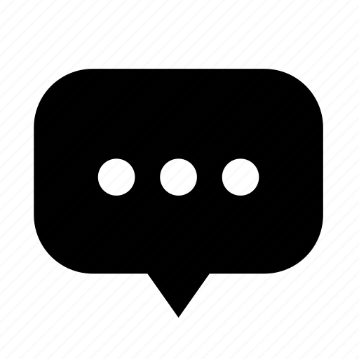 center, chat, cloud, dialogue, dot, rounded icon