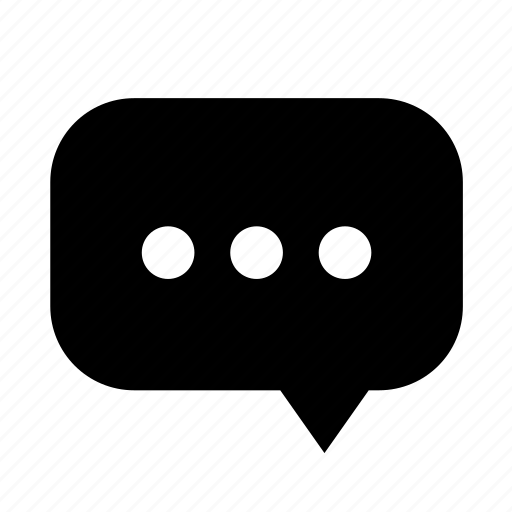 chat, cloud, dialogue, dot, right, rounded icon