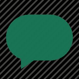 blank, cloud, dialogue, left, narrow, talk icon
