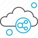 chain, cloud, link