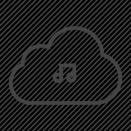 cloud services, cloud storage, music server, music storage, playlist, soundtracks icon