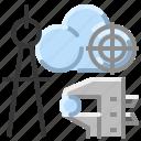 architecture, cloud, communication, internet, network icon