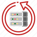 backup, cloud, communication, internet, network icon