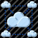 big, cloud, communication, data, internet, network icon
