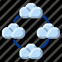 cloud, communication, community, internet, network icon