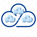 cloud, communication, distributed, internet, network icon