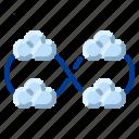cloud, communication, internet, multicloud, network icon