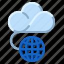 cloud, communication, internet, network, public icon