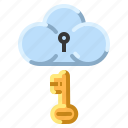 cloud, communication, internet, network, privacy, security icon
