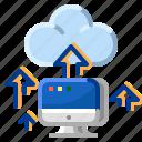 cloud, communication, computer, internet, network, upload icon
