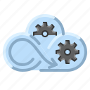 cloud, communication, internet, management, network icon