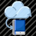 cloud, communication, internet, mobile, network icon