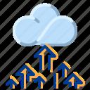 cloud, communication, internet, network, upload icon