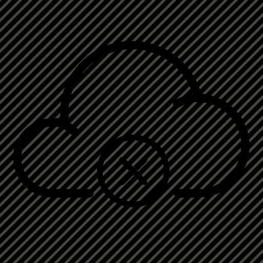 block, cloud, delete, info, mark, stop, storage icon
