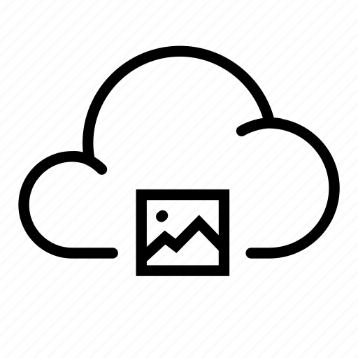 cloud, image, photo, saved, server, share, storage icon