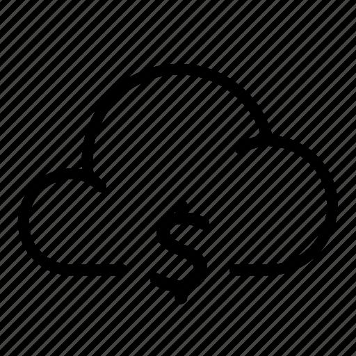 cloud, currency, money, moneydollar, storage, transfer, wireless icon