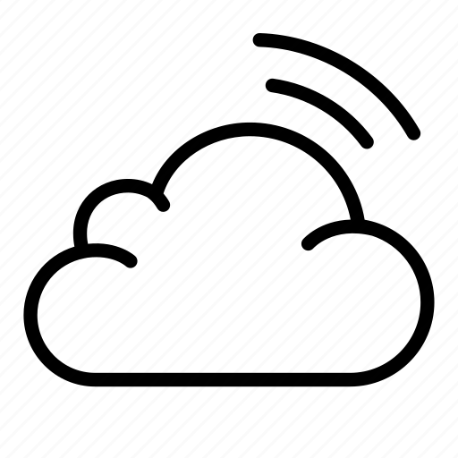 cloud, network, signal, storage, transfer, wave, wireless icon
