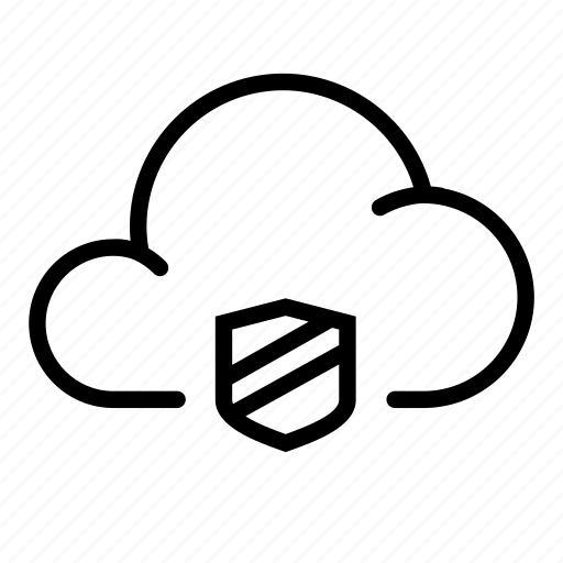 cloud, protect, safe, security, shield icon