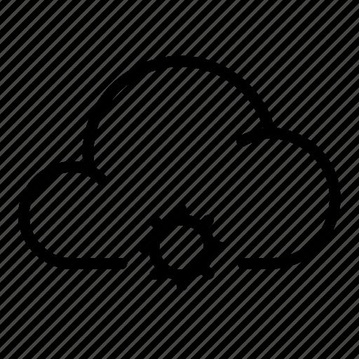 brightness, cloud, settings, storage, sun, sunlight, system icon