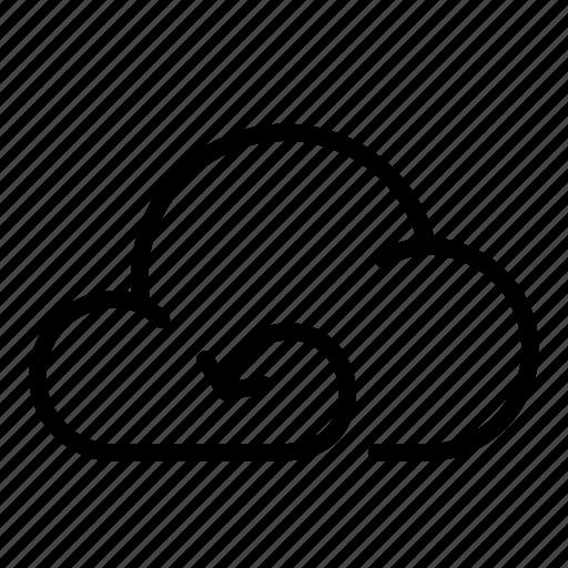 backup, cloud, refresh, restore, search, storage, undo icon