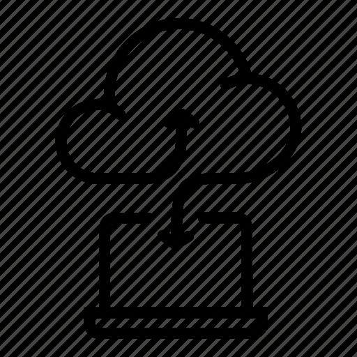 cloud, cloud data, computer, fun, mark, network, transfer icon