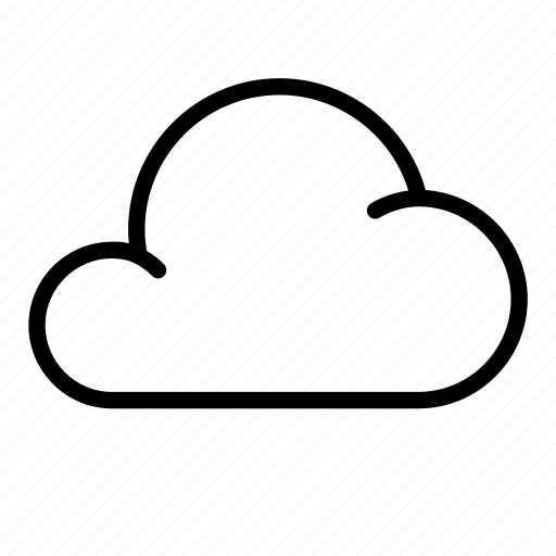 cloud, puffy, rain, sky, vapor, weather icon