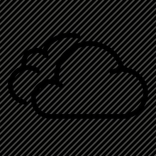 cloud, clouds, cumulus, rain, sky, stratus, vapor icon