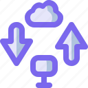 cloud, computer, data, network, transfer icon