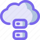 cloud, data, database, network, storage icon
