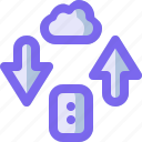 cloud, computer, network, pc, transfer icon