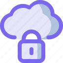 cloud, guard, lock, network, security icon