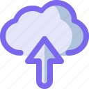 arrow, cloud, network, up, upload icon