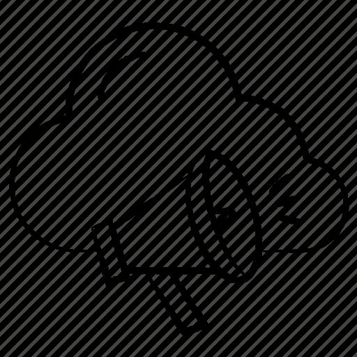 cloud, sound, speaker icon