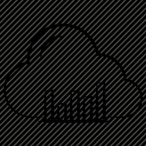 bar, cloud, graph icon