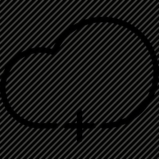 add, cloud, data, database, server, storage icon