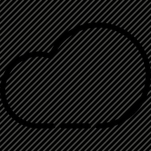 cloud, database, minus, network, server, storage icon