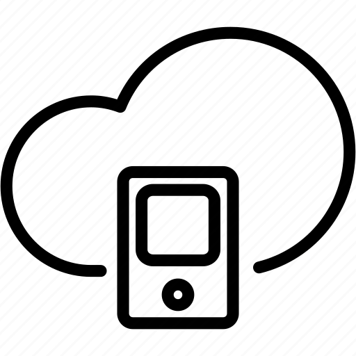 cloud, data, mobile, online, server, smartphone, storage icon