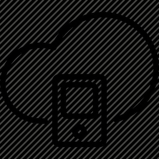 cloud, data, mobile, online, server, smartphone, storage icon