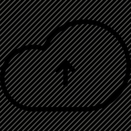 cloud, communication, data, network, server, storage, upload icon