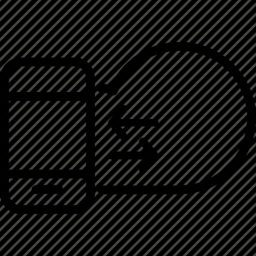 arrow, cloud, data, server, storage, transfer, upload icon