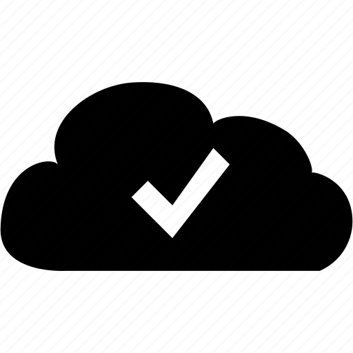 accept cloud, check mark, cloud accept, cloud computing, cloud data, cloud service icon