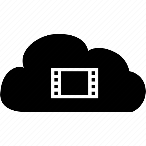 cloud, film, video, video cloud icon