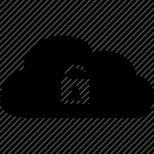 cloud unlock icon