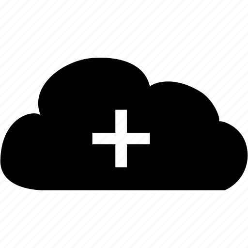 cloud access, cloud add, cloud increase, cloud plus, cloud up icon