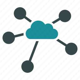 cloud, communication, connections, diagram, links, network, relations icon