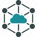 cloud, links, connections, online, network, structure, internet