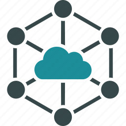 cloud, connections, internet, links, network, online, structure icon