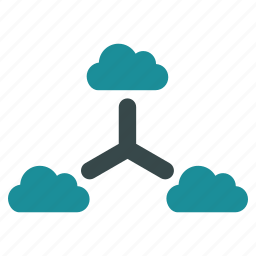 cloud, connect, links, network, online, structure, virtual icon